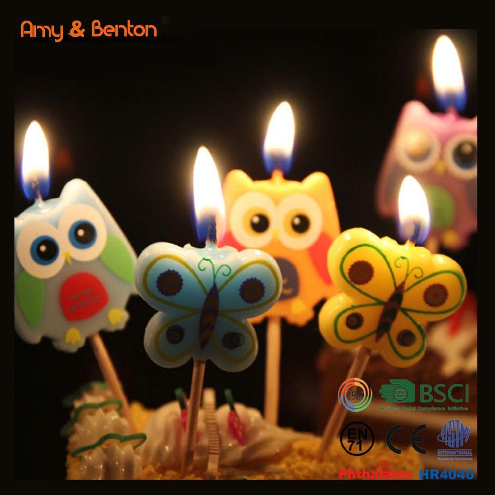 Most Popular Decorative Animation Owl Shaped Happy Birthday Cake Candles
