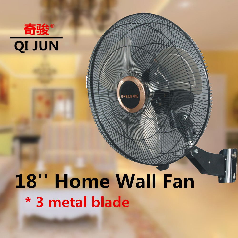 Commercial 18'' Mini Wall Fan Oscillating Pedestal Fan Parts Wall Mounted Bladeless Fan