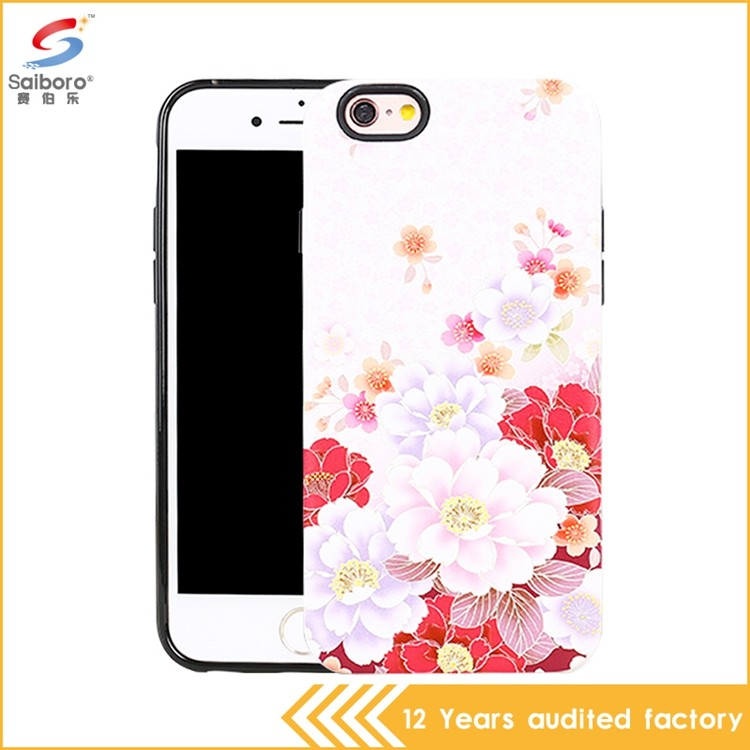 China manufacturer pink flower case for iphone 5 6 7