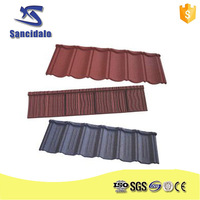 2015 low stone tin roofing prices/bond type synthetic roof tiles/Bond green roofing materials with stone coated steel roof tiles