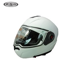 Open face double visor motocross helmets white flip up helmet motorcycle DOT approved