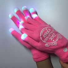 New fashionable factory price softtextile knitted colorful winter LED glove