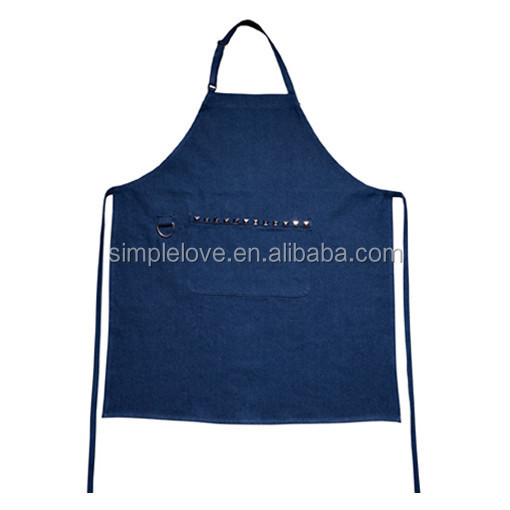 Premium Quality Wholesale Adjustable Denim Bib Apron With Pockets