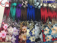 Embroidery handmake flower swiss lace with nice quality in colorful pattern for new fashion