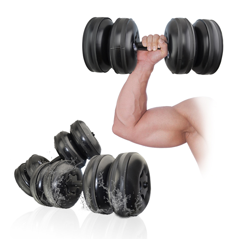 Factory directly supply gym exercise equipment 20kg-25kg <strong>weight</strong> lifting plastic dumbbell set Cheap