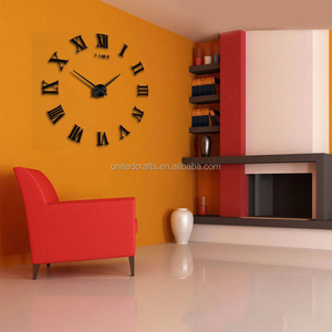 Hot Sale 3D DIY Wall Clock Modern Design Saat Reloj De Pared Metal Art Clock Living