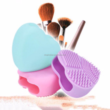 New design Heart Shape Silicone Cosmetic Makeup Brush Egg Cleaner
