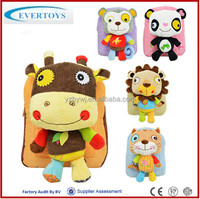 2015 wholesale colourful animal plush toy bag/candy bag
