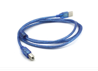 Wholesale transparent Blue USB 2.0 Male A To Male B USB Printing Cable 5m