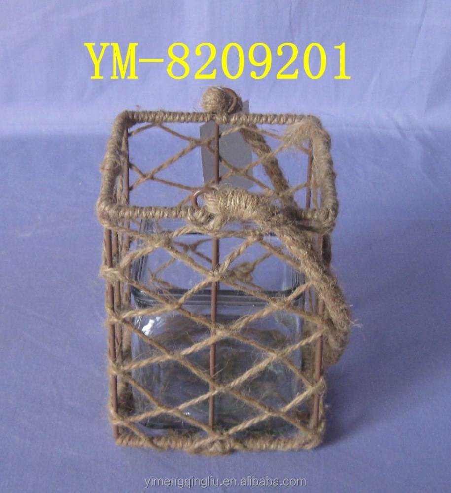 Decorative Lantern with Glass and Handle