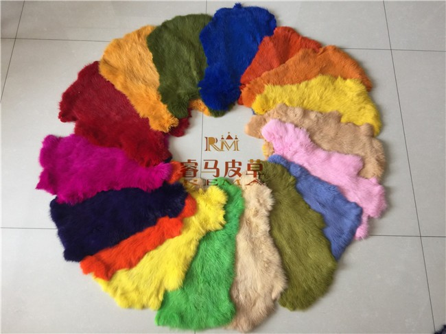 Colorful Dyed Rabbit Fur Skins