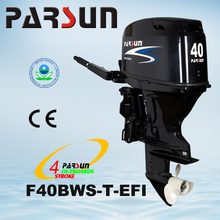 F40BWS-T-EFI 40HP 4-stroke tiller handle with power tilt outboard