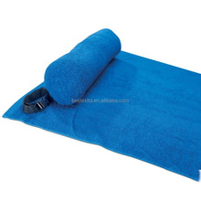Large Luxury Adult folding beach towel bag with inflatable pillow