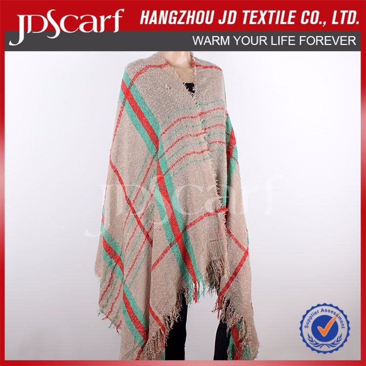 Factory direct low price for women tartan shawls wraps