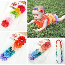 <strong>Accessories</strong> 2018 <strong>Hair</strong> Bands Elastic Colorful Baby Flower Headband