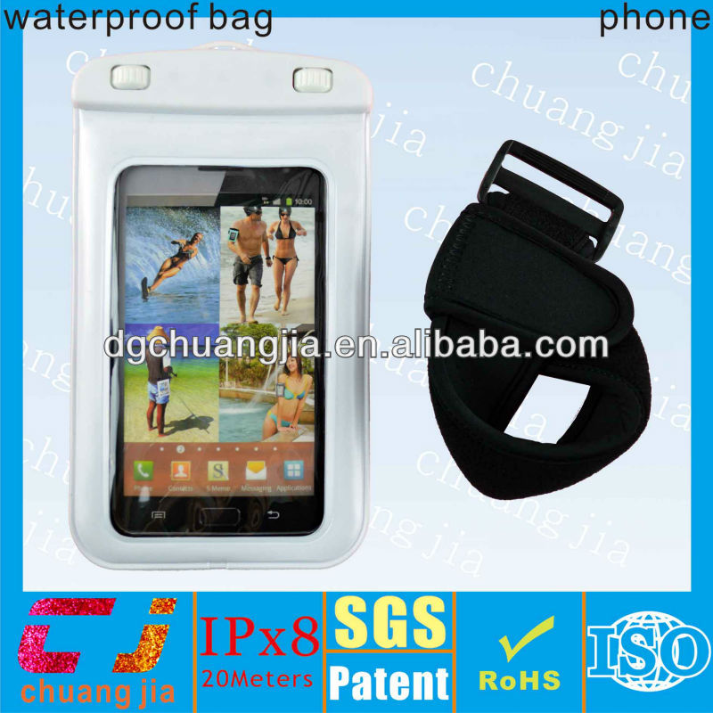 high quality waterproof wallet bag for samsung galaxy note i9220 case with armband with IPX8 certificate for swimming
