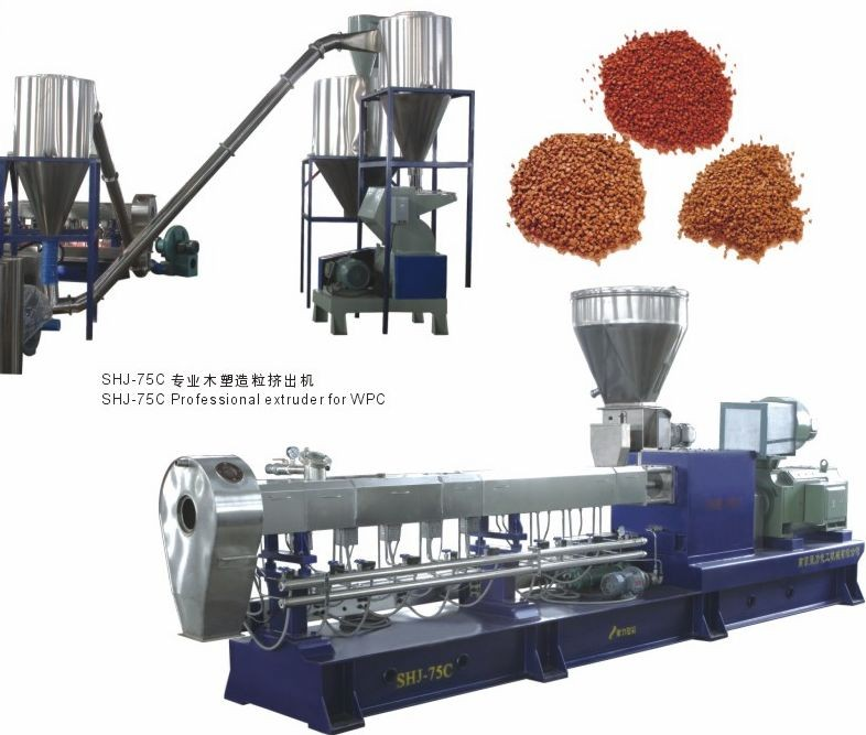 PP +70% caco3 filler masterbatch co-rotating twin screw extruder machine