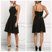 Latest fashion black bandage new model dress for women