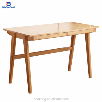 Solid Wood Study Table Modern Study Room Removable Furniture