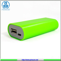 Mobile power bank 5200mah green powerbank 18650 backup battery for smartphones