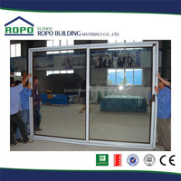 UPVC two panels horizontal open plastic sliding door