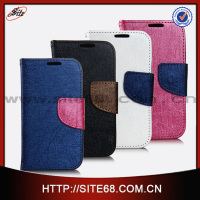 genuine leather wallet mobile phone cases for samsung galaxy s4 mini