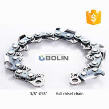 3/8 058 Newest full chisel saw chain,stainless saw chain,steel saw chain