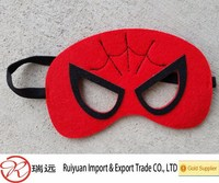 2015 Alibaba hot sale !!! 17*7cm Spiderman inspired felt mask Dress Up play accessory
