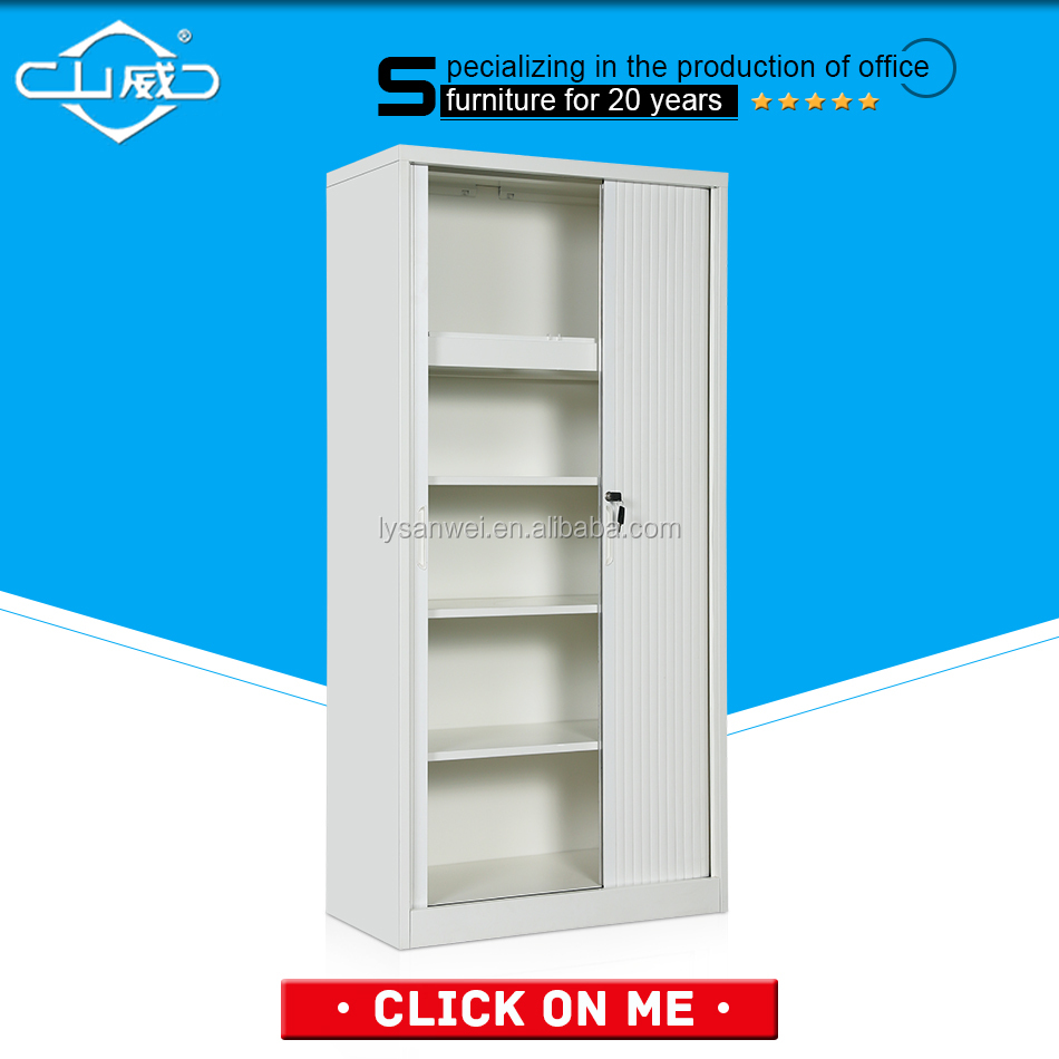 best selling fashion style grey color kitchen roller shutter door cabinet