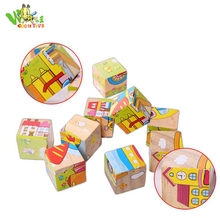 kids wooden educational toy 3d wooden puzzle