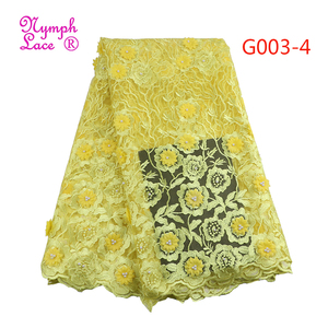 flower tulle 3d rose embroidered lace fabric