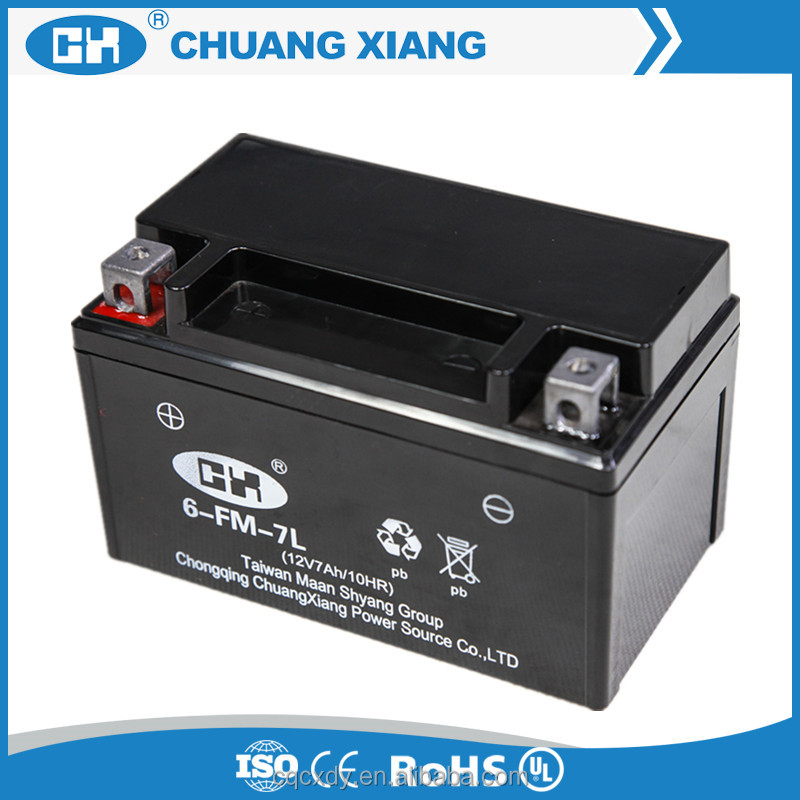 12V 7Ah AGM(Absorbed Glass Mat) Dry Battery For Motorcycle