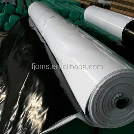Anti-UV White & Black Poly/PE cover film for mushroom grow tunnel greenhouse