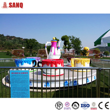 Amusement park rotating coffee cup family rides for sale