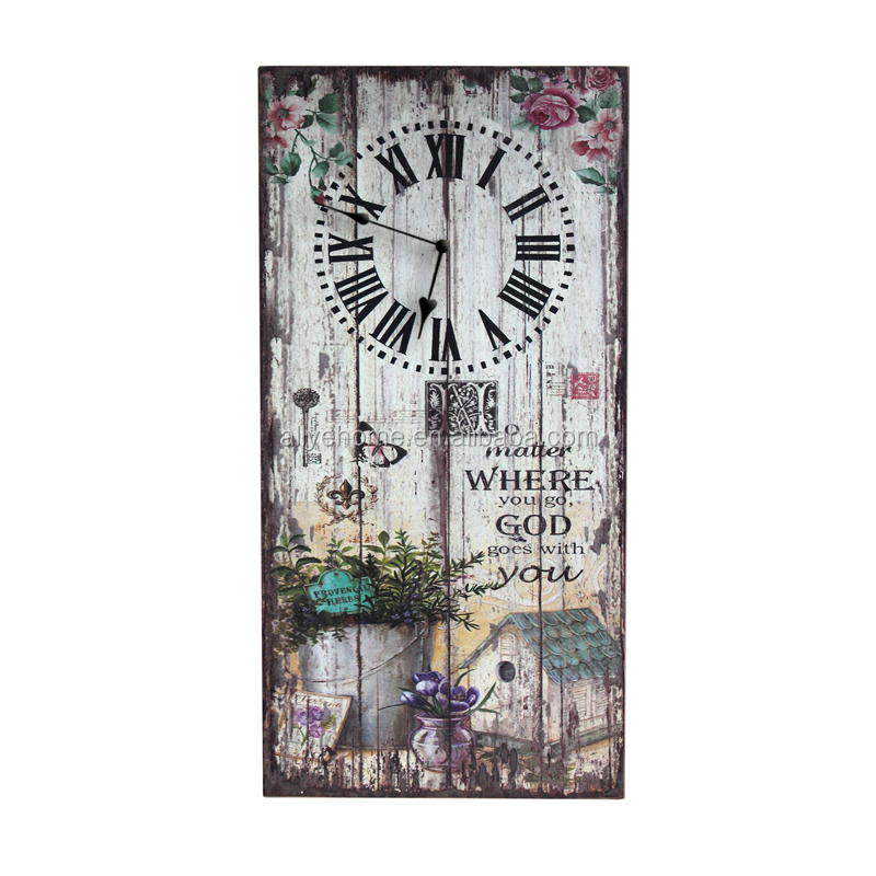 Wholesale Wooden Wall Clock With Vintage Design