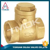 "TMOK Non Return Vertical Brass Spring Check Valve Size 1/2"" with plastic stem"