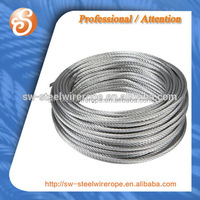 6x7+FC drawn galvanized steel wire rope cable soft coil