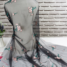 New hot design french tulle embroidery cotton lace curtain fabric Wedding Decoration Dress