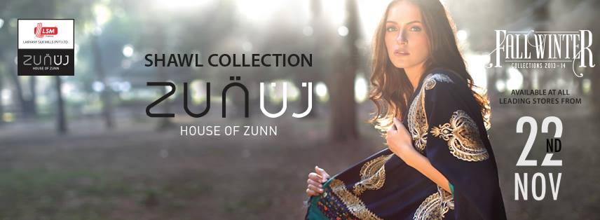 House of Zunn Winter Shawl Collection 2013-14 by LSM Fabrics