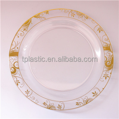 Disposable PS plastic plate with hot stamp plastic plate 9 compartment