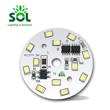 Factory price 220V 5W 7W 9W 12W smd led bulb <strong>pcb</strong> with IC