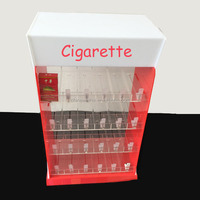 acrylic cigarette display cabinet with pusher