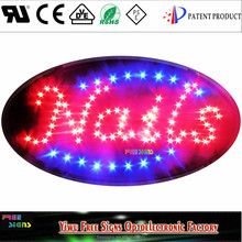 Ultra Bright LED Neon Light Animated Nails OPEN Sign, Oval