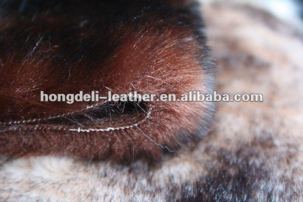 fake wolf fur fabric faux fur fabric for shoe and bag garment