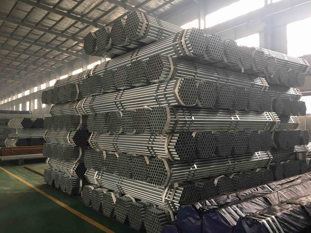 BS1387 hot-dipped galvanized carbon steel pipe