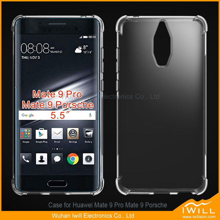 Newest products clear tpu mobile gel case for huawei mate 9 pro cell phone cover