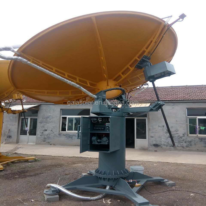 CSP solar parabolic dish concentrator with GPS