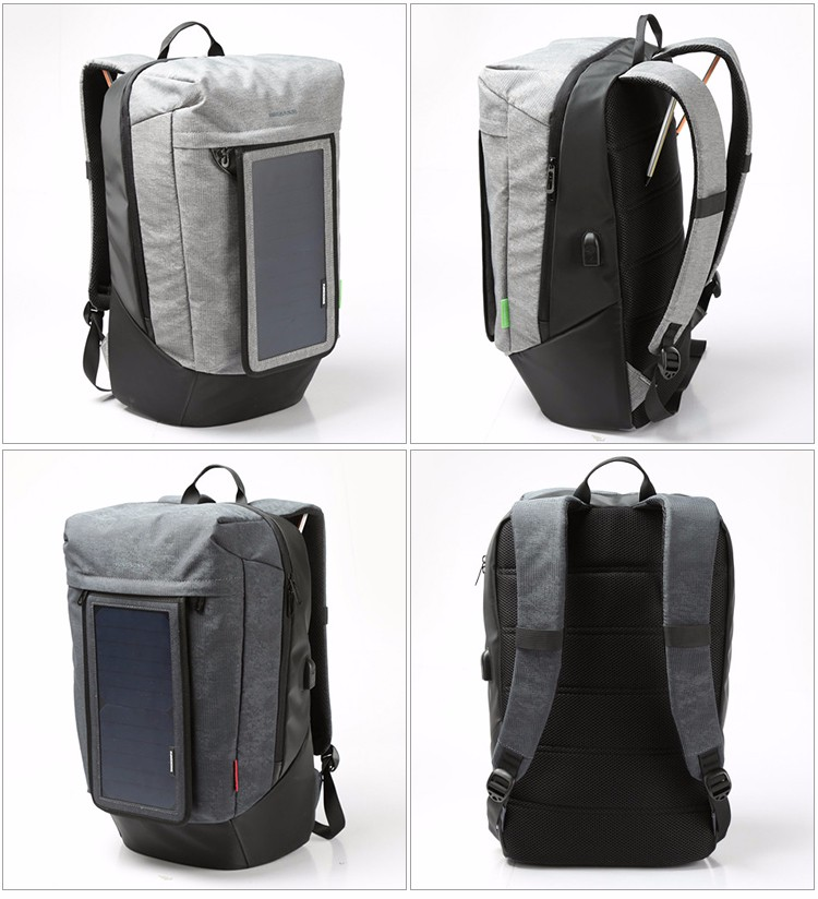 Wholesale Outdoor Travel external frame 7W Solar Powered Backpack