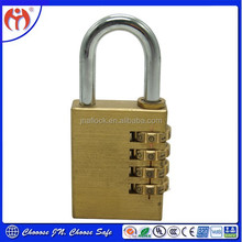 Best Selling China Supplier New Product Brass Change Combination Padlock for Suitcase, Luggage, Locker & Cabinets JN 04