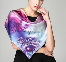 Customized Printing 100% Silk Women's Scarves Shawls
